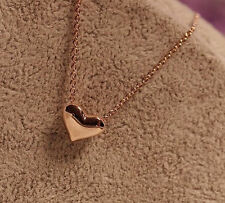 Hot Women Gold Plated Heart Bib Statement Chain Pendant Necklace Jewelry