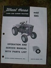 WHEEL HORSE 1045 Operation & Service Manual with Parts List   Original