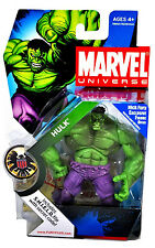 "MARVEL UNIVERSE Collection_Green HULK_Red HULK_Grey HULK 4.5"" figures_MIP_Hasbro"