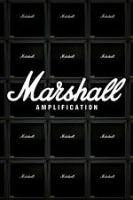 "Marshall POSTER ""Tube Amp Stack"" Amplification BRAND NEW Licensed Wall Art"