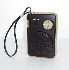 VINTAGE RETRO 1977 TRANSISTOR MICRO POCKET SPACE AGE RADIO PHILIPS AL 071