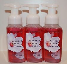 LOT OF 3 BATH & BODY WORKS JAPANESE CHERRY BLOSSOM GENTLE FOAMING HAND SOAP WASH