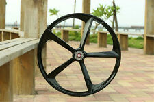 700c 5-Spoke Fixie Fixed Gear Single Speed Bike Mag Rear Wheel Rim ( Black )
