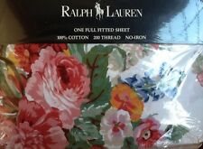 RALPH LAUREN Southampton Beach SHABBY COTTAGE CHIC Full Fitted SHEET