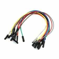 10PCS 20CM Female to Female 1 Pin Plug Jumper Cable Wires Multicolor LW