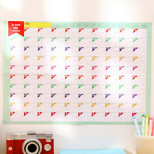 Calendar Wall Planner Daily Schedule Large Size Lovely Lovely Wall Sticker JR