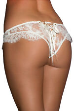 Culotte Laçage Ouvert Dentelle Broderie Blanc Sexy  SEXY NEUF T38-40