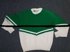 Used Cheerleading Sweater Green/White Available Girls Size 10 - misses size 18