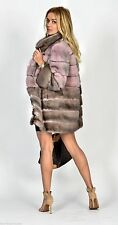 REAL NEW MINK FUR COAT-CAPE PINK CROSS SKINS NAFA MEXA NERZMANTEL FOX SABLE