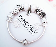 Authentic Pandora Silver Bracelet with Butterfly Garden European charms Love