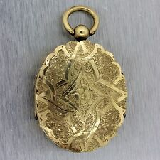 1880s Antique Victorian Gold Filled Double Display Picture Locket MX