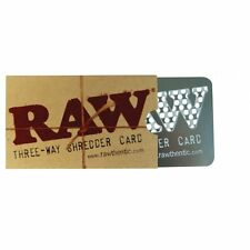 Raw Three-Way Shredder Metal Card with holes in which you can rub tobacco