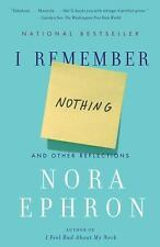 I REMEMBER NOTHING by Nora Ephron FREE SHIPPING paperback book essays funny!