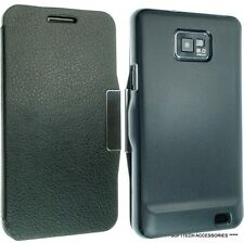 Per Sumsung Galaxy S2 i9100 SMART PELLE CASE COVER WALLET DESIGN FLIP SII