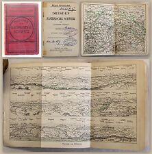 Meyers Reisebücher: Dresden & Sächsische Schweiz 1905 - Karten & Pläne xz