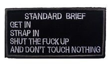 standard brief ARMY MORALE BADGE TACTICAL MILITARY EMBROIDERED PATCH  sh + 705