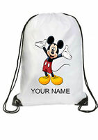 BOY GIRL Personalised  MICKEY MOUSE Gym BAG for Swim PE Dance School Great