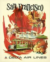 026 Vintage Travel  Art Poster San Francisco *FREE POSTERS