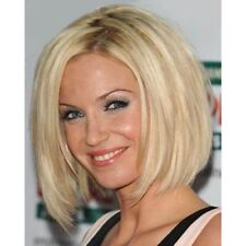 Trendy Short Light Blonde Synthetic Charming Centre Parting Straight Women's Wig