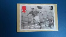 FOOTBALL LEGENDS 1996 DIXIE DEAN POST CARD FROM STAMP DESIGNED BY HOWARD BROWN