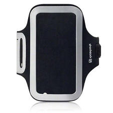 Shocksock Reflective Gym Jog Sports Armband For Samsung Galaxy S6 S6 Edge - Blac
