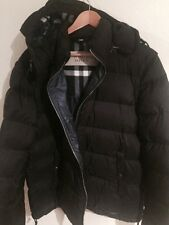 Burberry Brit Mens Puffer Jacket Size 2 Xl Black