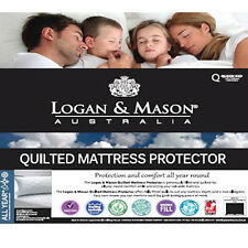 LOGAN AND MASON Quilted Mattress Protector KING SIZE Premium brand NEW