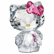 HELLO KITTY PINK BOW SWAROVSKI CRYSTAL SRP $220 NEW IN BOX/GIFT BAG FREE S/H