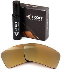 Polarized IKON Iridium Replacement Lenses For Oakley Eyepatch 1 24K Gold Mirror