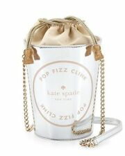 Kate Spade Place Your Bets Champagne Tote NEW wTags Fashion Mag & Blogs Classic!