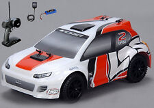 Losi 1/24 4WD Rally Car RTR Orange/White w/ Radio,Battery & Charger LOSB0241T2
