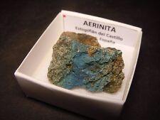 AERINITA - Aerinite - Estopiñan del Castillo - CAJITA- SPAIN MINERAL BOX 4x4 A82