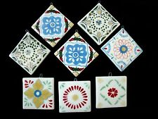 "Set of 8 Seasons of Cannon Falls Ceramic Tiles 2"" Square Floral Design Ornaments"