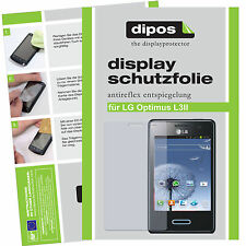 LG Optimus L3 II Schutzfolie matt Displayschutzfolie Folie Antireflex dipos