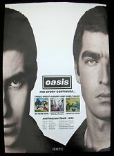 OASIS Australian Tour 1998 PROMO Only POSTER Noel Gallagher MOD MINTY! Liam