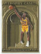 1997-98 Fleer Metal Basketball Shaquille O'Neal Trophy Case Insert Card 4 Of 10