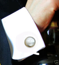 Lovely Mother-of-Pearl Men's Classic Elegant Cufflinks Gemstone 12 mm DG