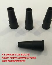 F Connector Waterproof Outdoor Cable Boot/Strain Relief - RG6 / CT100 X 4