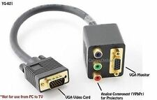 VGA Male to VGA/RCA RGB Component Dual Female Y-Splitter Adapter Cable, YS-021