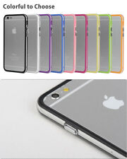 Ultra-Thin Aluminum Metal Bumper Clear Back Case Cover for iPhone 6s PLUS Silver