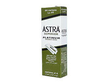 Astra Superior Platinum Double Edge Shaving Razor Blades 100 pcs-FAST SHIPPING