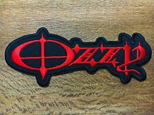 OZZY OZBOURNE Sew Iron On Patch Rock Band Music Logo Heavy Metal Embroidered