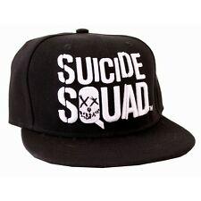 Official DC COMICS SUICIDE squad symbole/logo noir casquette réglable (neuf)