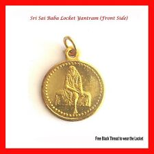 Shree Shirdi Sai Baba Locket Yantram + Pendant + Sai Yantram + Thread + USA Sell
