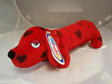 Mary Meyer 'Red Hot Dog' weiner dog red w/black hearts 12 1/2 inches long NWT FS
