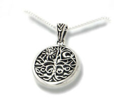 "Celtic Tree of Life Art Sterling Silver Pendant & Chain 18"" Necklace"