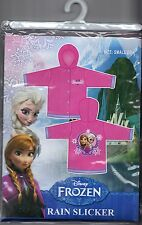 Disney Frozen Elsa & Anna Pink Kids Vinyl Rain Slicker Coat Size: Small 2-3 *New
