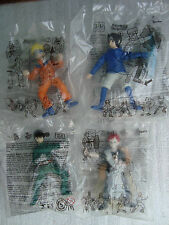 Naruto 4 figures by Mcdonalds 2009 Mexico exclusive anime Gaara Sasuke Rock Lee
