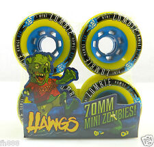 Landyachtz Mini Zombie Hawgs 70mm 82a Pro Longboard Wheels Set of 4 Yellow