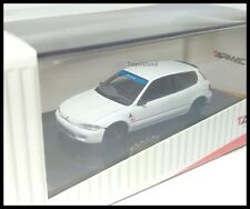 Tarmac Works 1/64 Honda Civic EG6 GROUP A Racing SPOON WHITE DIECAST CAR